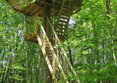Parc de la Belle - Cabane dans les arbres - Hébergement insolite en Nouvelle Aquitaine situé à proximité du Futuroscope (Vienne (86)