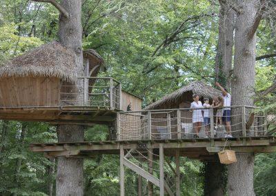 Hébergement insolite - Cabane de la belle dans la Vienne (86) - Nuit insolite dans une cabane dans les arbres