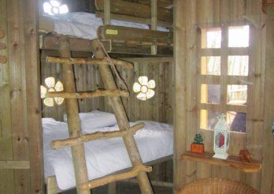 Lits superposés Cabane des Lutins